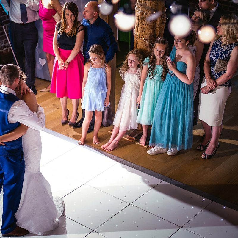 Couple's first dance at Essex wedding venue
