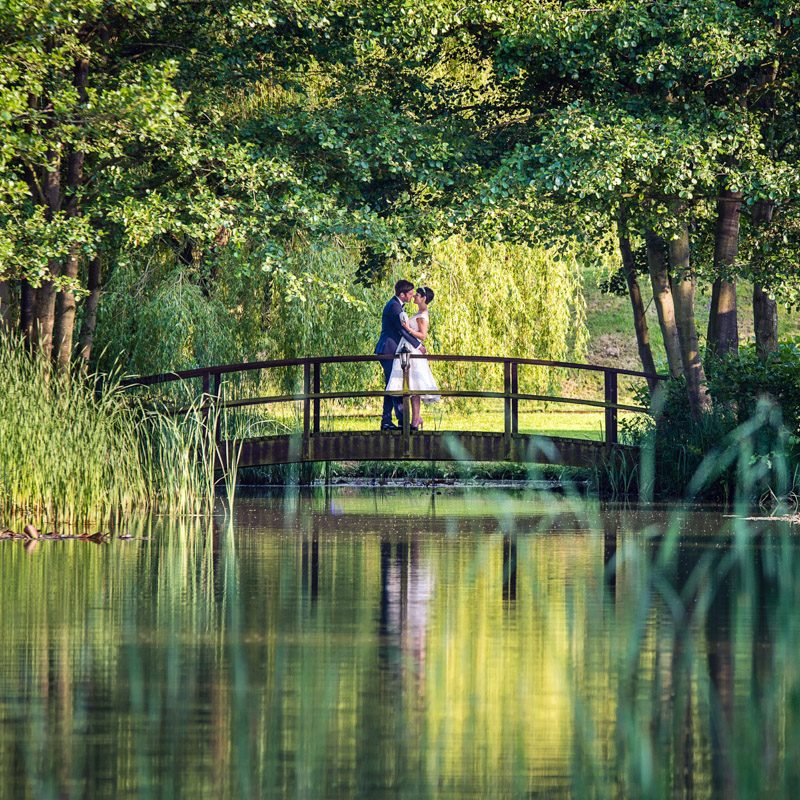 Couple on a bridge at Minstrel Court