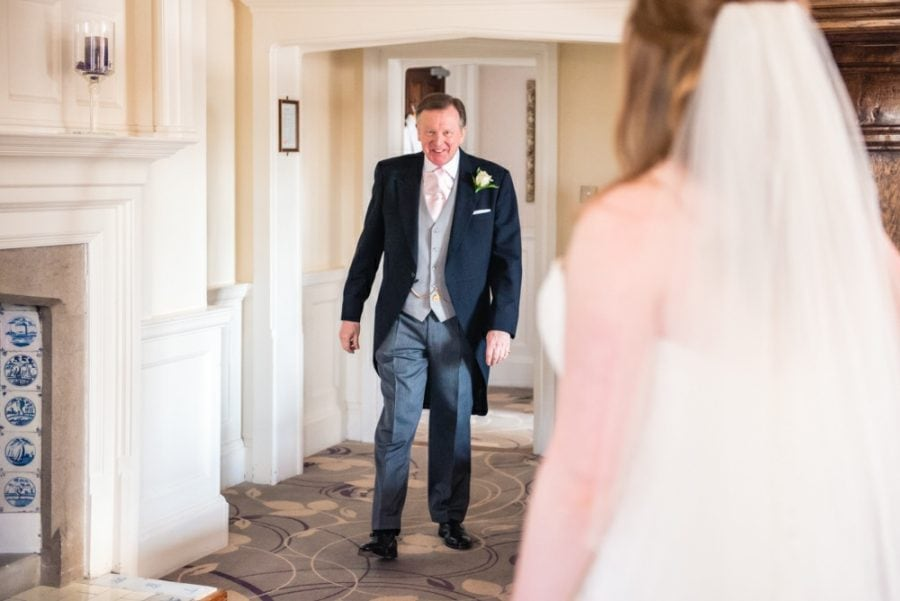 dad sees bride in dress