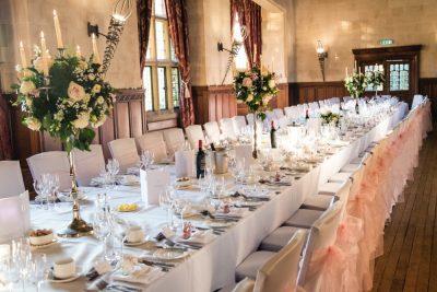 Fanhams hall wedding reception