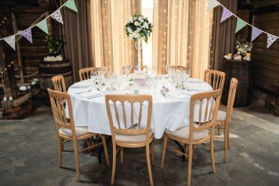 herons farm wedding table
