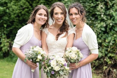 natural bridesmaid portrait purple lilac dresses