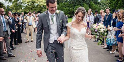wedding confetti photography herons farm