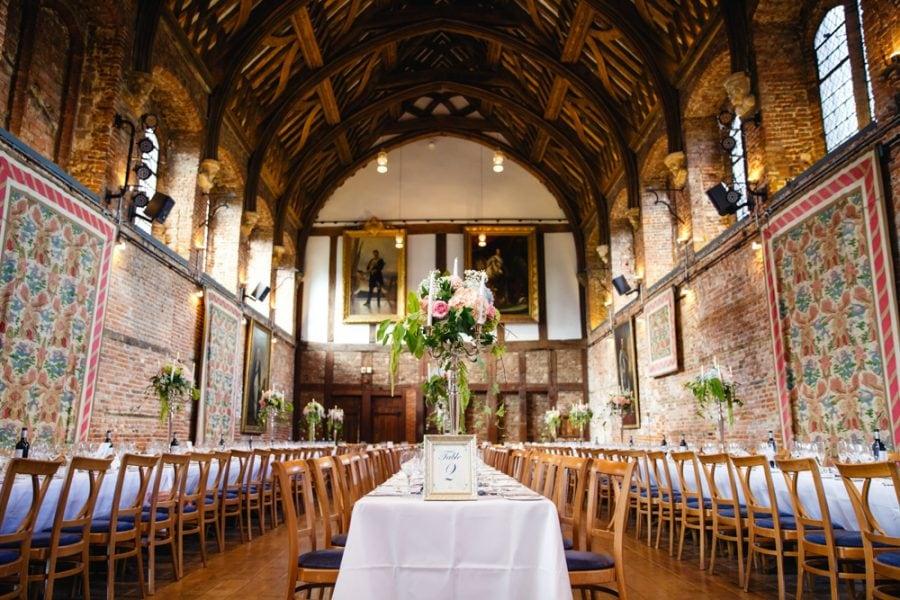 Hatfield House dining room wedding photography