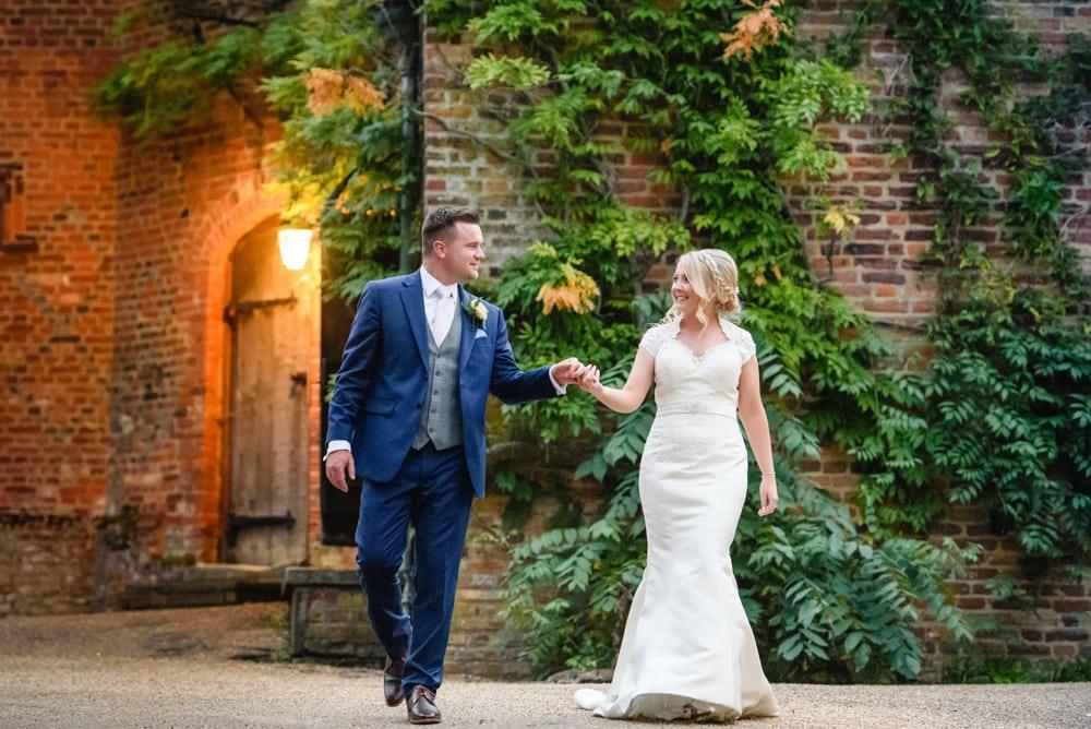 Manor house wedding bride and groom